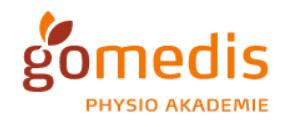 Logo der gomedis GbR Physioakademie Köln-Bonn als Partner der Physiotherapie Praxis mensana•med in Köln