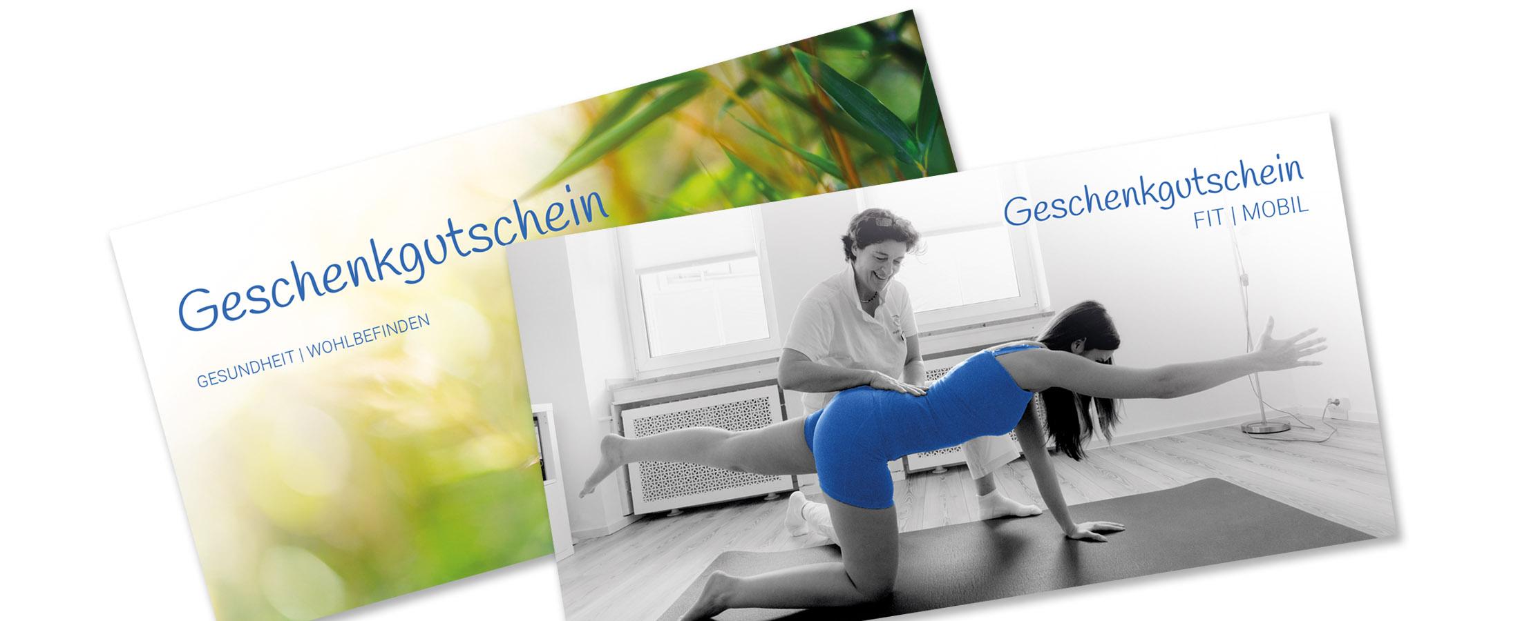 Geschenkgutschein Banner der Physiotherapie Praxis mensana•med in Köln