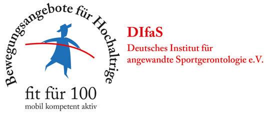 Logo des Deutsches Institut für angewandte Sportgerontologie e.V. als Partner der Physiotherapie Praxis mensana•med in Köln