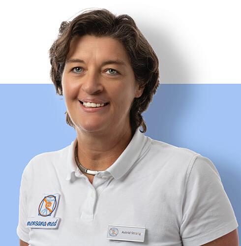 Porträt der Praxisleitung Astrid Strang von der Physiotherapie Praxis mensana•med in Köln